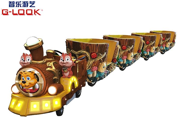 黄金森林无轨小火车